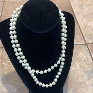 36 inch strand faux ind knotted pearls Marvella